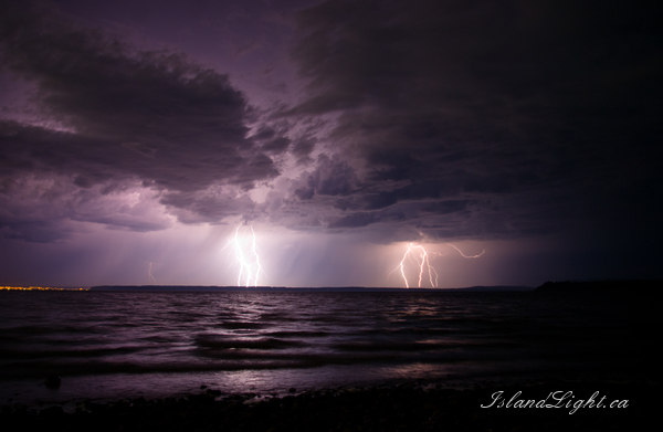 Electric Storm ~ Lightening Photo from Cortes Island Canada.