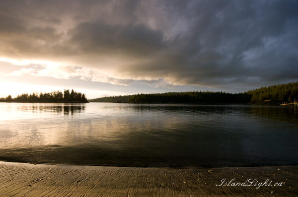 Seascape  photo from Mansons Landing Cortes Island, BC Canada.