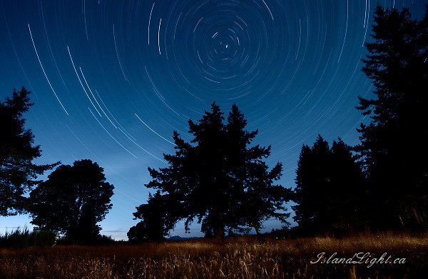 North Star II ~ Star Photo from Cortes Island Canada.