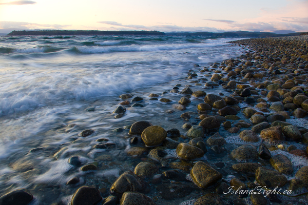 Seascape  photo from Smelt Bay Cortes Island, BC Canada.