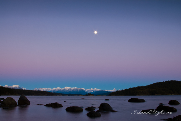 Moon Rise ~ Night Sky picture from Desolation Sound Canada.