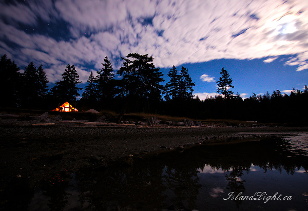 Just Moonlight - Cortes Island Night Landscape photo