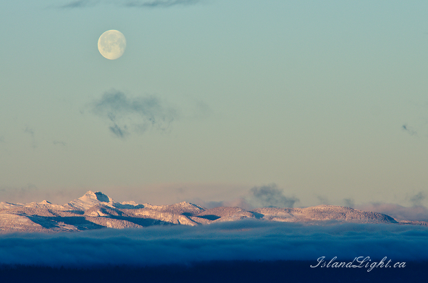 The Moon Over Vancouver Island - Vancouver Island Moon photo