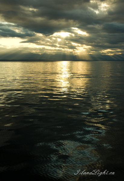 Seascape  photo from  Georgia Strait, BC Canada.