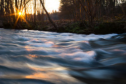 Standing Waves ~ River picture from Aillevillers France.