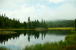 Paradice Meadows Landscape - Paradise Meadows Alpine Lake photo