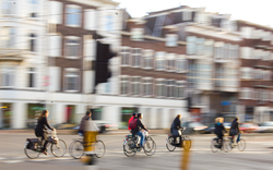 Cyclists Crossing -  Bicycling photo