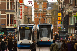 Amsterdam Trams -  Transport photo