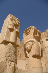 Djeser-Djeseru Pillars  - Valley of the Kings Ancient Egypt photo