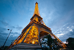 Eiffel Tower at Dusk - Paris  photo