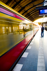 Waiting at the Station ~ Urban picture from Berlin Germany.