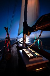 Night Sailing - Salish Sea  photo