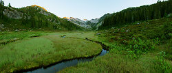 Brandywine Meadows Panorama ~ Alpine Meadow Photo from Brandywine Valley Canada.