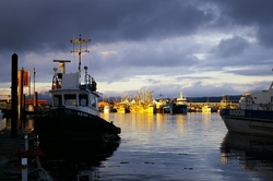 Moored Tugboat ~ Tugboat picture from Campbell River Canada.