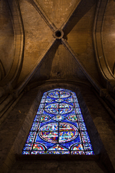 Chartres Window - Chartres Cathedral photo