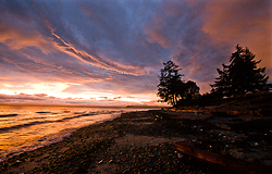 Smelt Bay Sunset No. 23 ~ Landscape  picture from Cortes Island Canada.