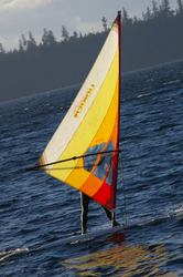 Sailboarding picture from Cortes Island Canada.