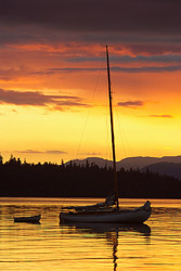Sailboat picture from Cortes Island Canada.