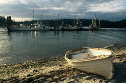 Sailing Dinghy at Mansons Landing ~ Sailing Dinghy picture from Cortes Island Canada.