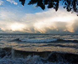 Wave and cloud ~ Seascape  picture from Cortes Island Canada.