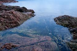 Red Granite No. 1 ~ Seascape  picture from Cortes Island Canada.