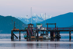 Squirrel Cove Dock ~ Seascape  picture from Cortes Island Canada.