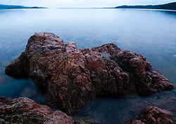 The Red Granite of Red Granite Point ~ Seascape  picture from Cortes Island Canada.