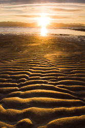 Winter on the Tide Flats ~ Sunset picture from Cortes Island Canada.