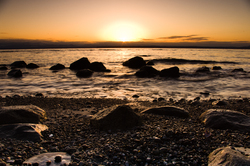 Granite, Salt Water and Sun -  Sunset photo