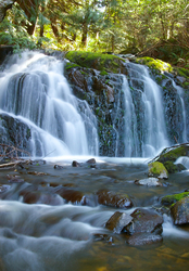 Waterfall #57 - Waterfall photo from Mansons Landing Cortes Island BC, Canada