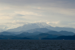 Many Mountains ~ Mountain picture from Georgia Strait Canada.