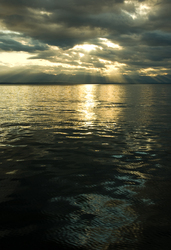 Sun over the Salish Sea ~ Seascape  picture from Georgia Strait Canada.