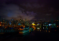 An Evening at the Fishermans Wharf - Vancouver Harbour photo