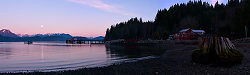 Panorama of Squirrel Cove in Moonlight - Cortes Island  photo