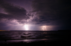 Electric Storm - Cortes Island Lightening photo