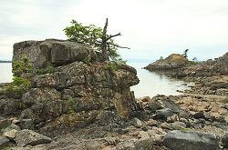 Oceanside Rock Formations ~ Seashore picture from Lund Canada.