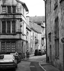Person in Alley ~ Town picture from Luxeuil France.