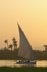Voyage Up the Nile ~ Sailing picture from Luxor Egypt.