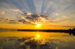 Sunbeams ~ Sunburst picture from Mansons Landing Canada.