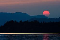 Landscape  picture from Marina Island Canada.