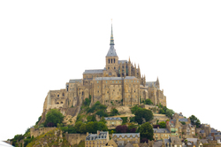 The Mount ~ Cathedral picture from Mont St. Michel France.