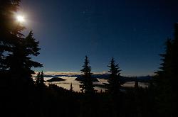 A Moonlight Night on Mount Washington ~ Nighttime Landscape picture from Mount Washington Canada.