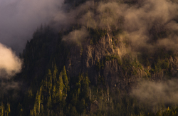 Mist on the Cliffs - Mainland Mountain photo