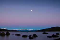 Moon Rise - Desolation Sound Night Sky photo