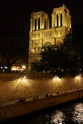Notre Dame and the Seine ~ Cathedral picture from Paris France.