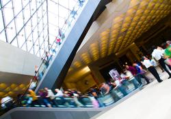 Louvre Escalator ~ Escalator picture from Paris France.