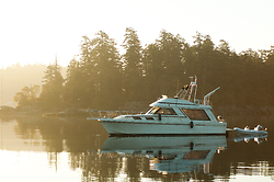 Morning in Ganges Harbour - Saltspring Island power boat photo