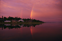 Rainbow in the Comox Harbour - Comox Rainbow photo