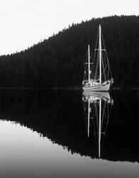 Anchored in Carrington Bay - Cortes Island Sailboat photo