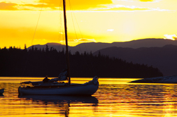Sailboat at Anchor - Cortes Island Sailboat photo